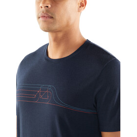 Icebreaker Tech Lite Cadence Pulse SS Crewe Shirt Herr midnight navy